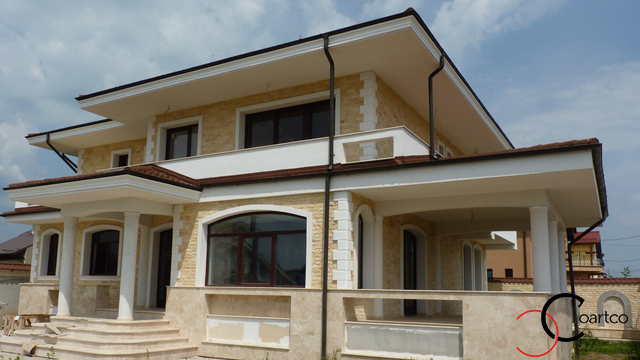 Modele Fatada Casa Moderna cu Profile Decorative din Polistiren CoArtCo