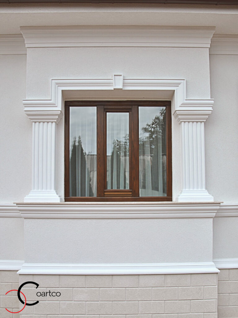 ancadramente din polistiren pentru ferestre la exterior
