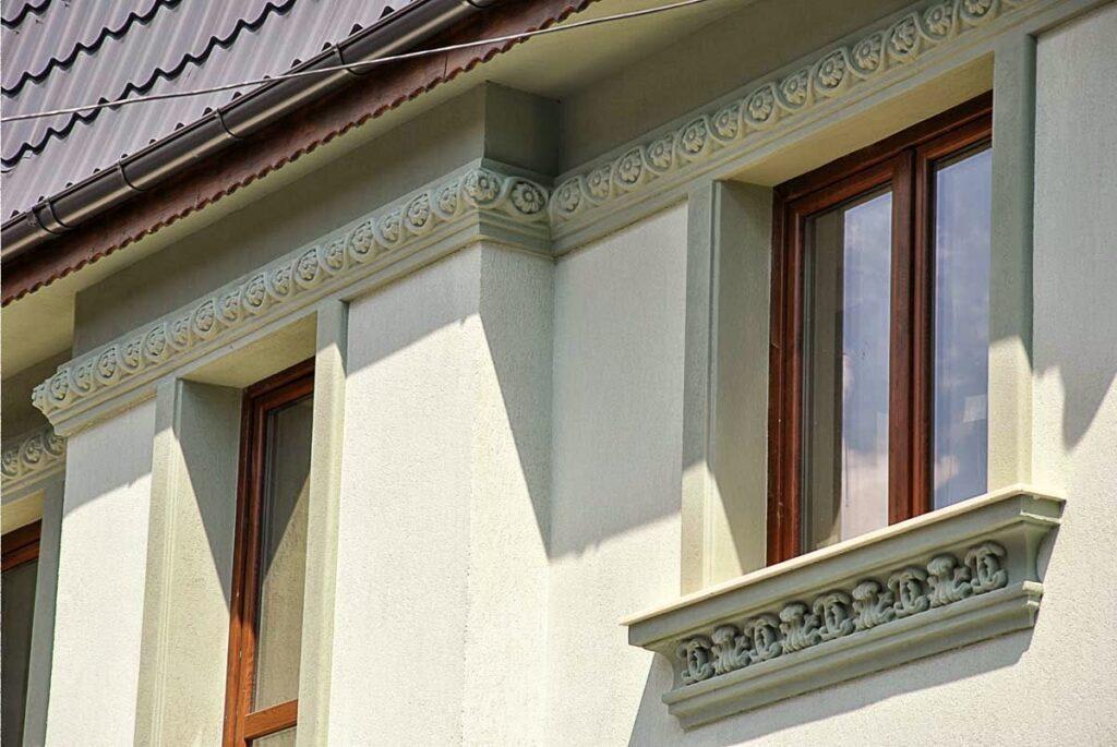 fatade case, fatade de case cu profile decorative din polistiren, fatada casa