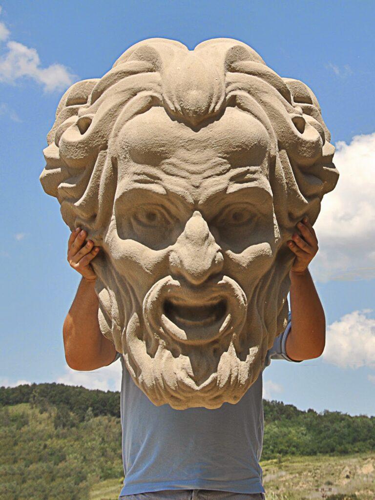 masca gigantica polistiren, butaforii, elemente decorative
