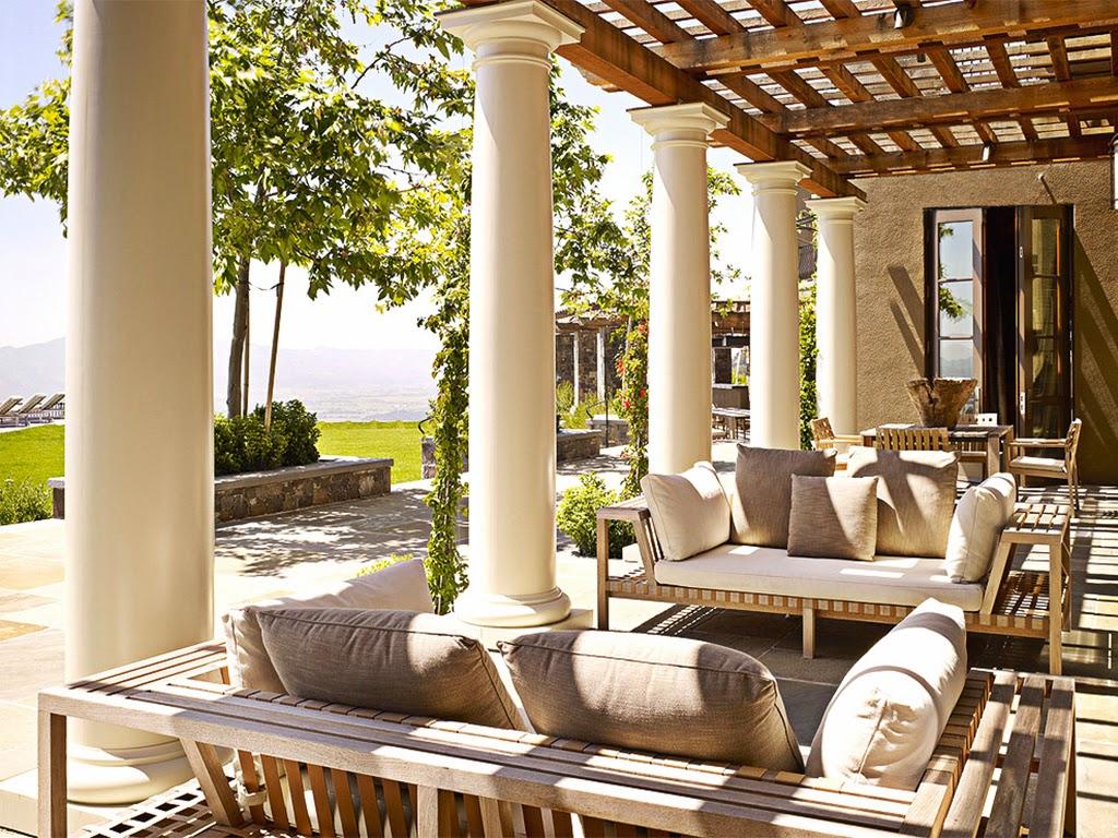 terasa casa cu pergola si stalpi, coloane decorative din polistiren