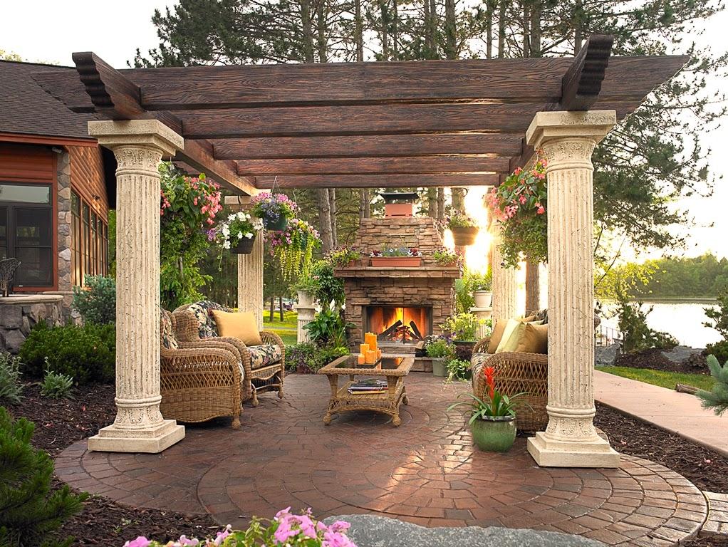 producator pergole lemn cu profile decorative, coloane decorative