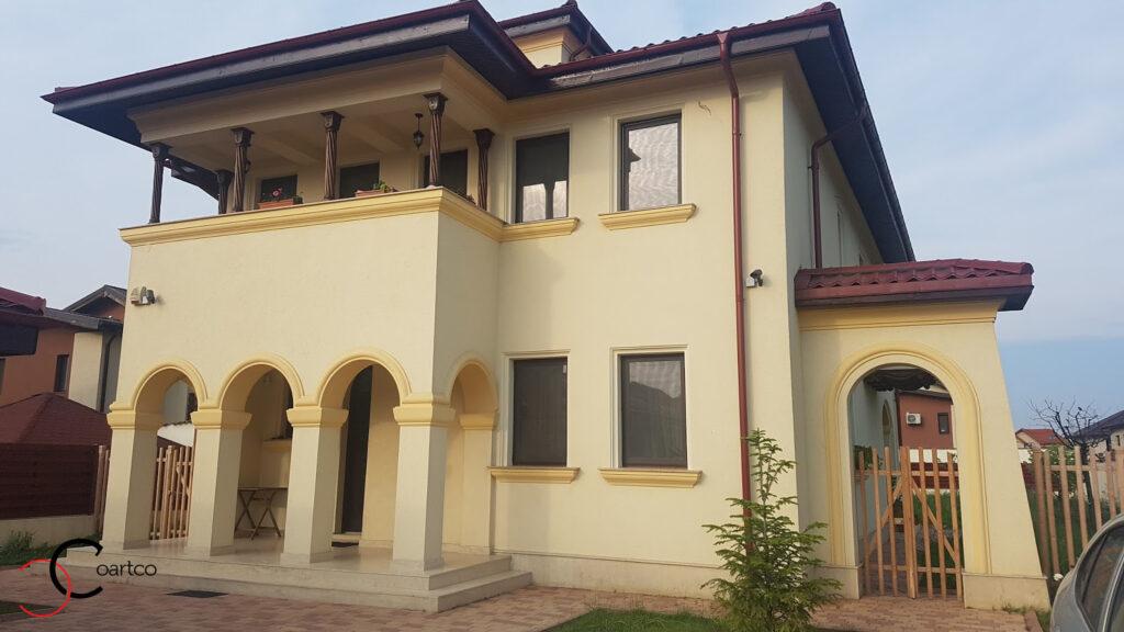 Amenajare fatada casa cu profile decorative din polistiren CoArtco