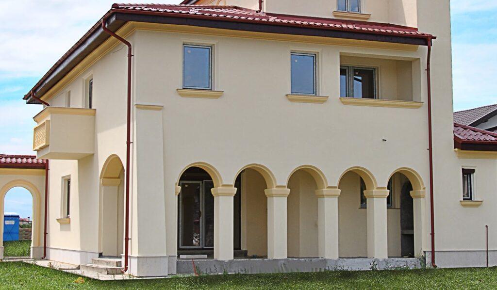 Fatada Casa Moderna, coloane polistiren, arcade polistiren, coloane, arcade