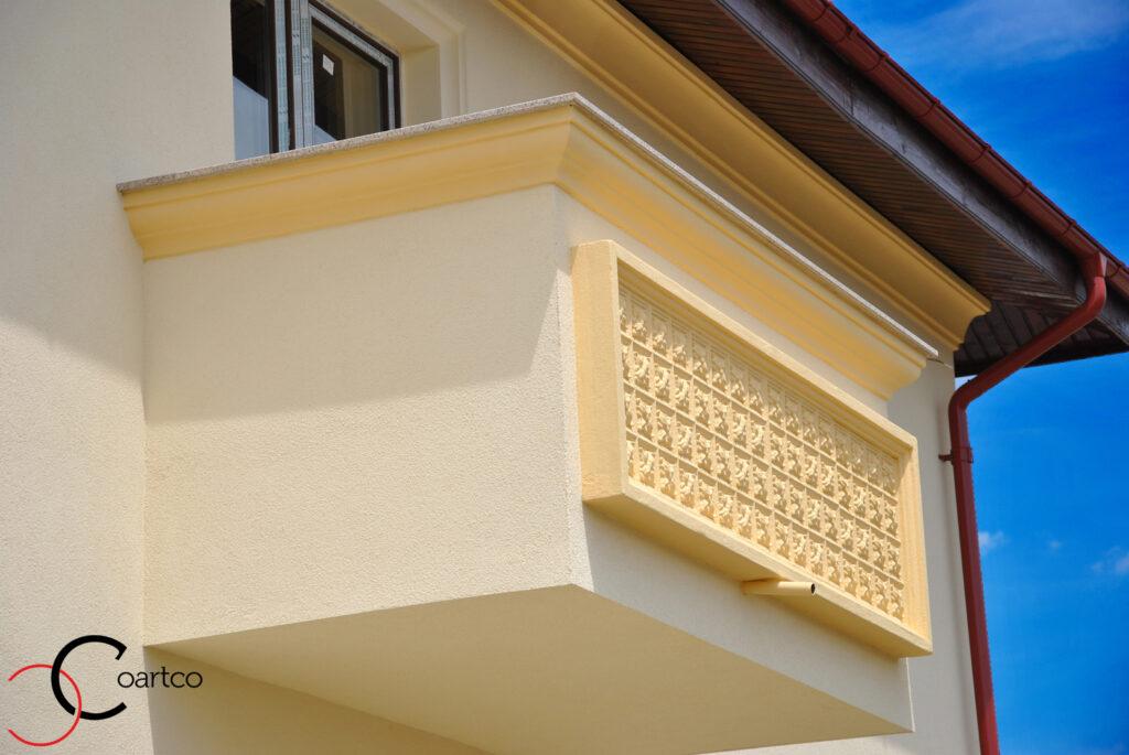cornisa, cornisa exterior, cornisa polistiren, panou decorativ, panou decorativ polistiren, fatada casa, fatade case