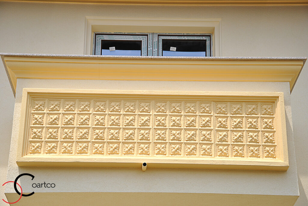 panou decorativ, panou decorativ polistiren , cornisa polistiren, cornisa exterior polistiren, fatada casa, fatade case