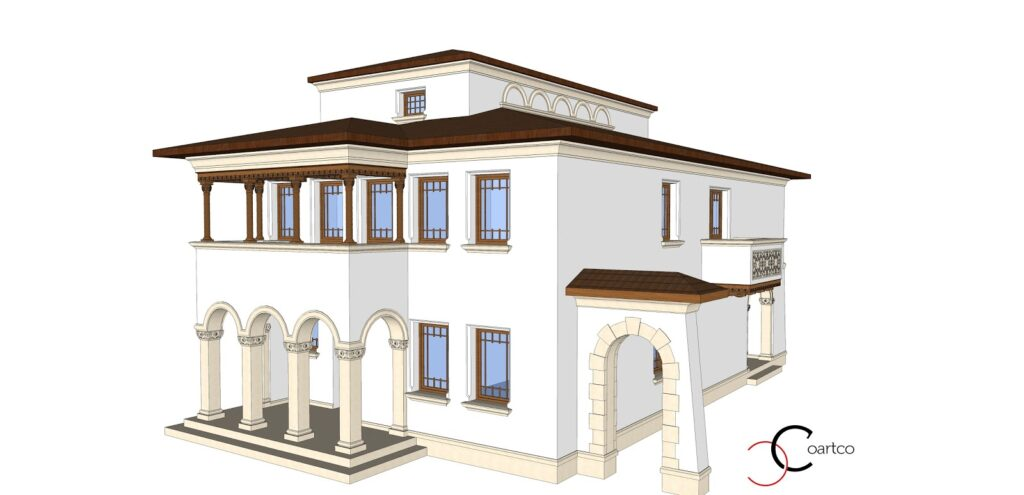 manopera fatada casa, fatada casa, fatade case, firma constructii fatada casa, profile decorative polistiren