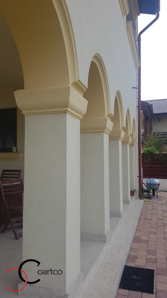 Coloane decorative din polistiren CoArtCo cu arcada