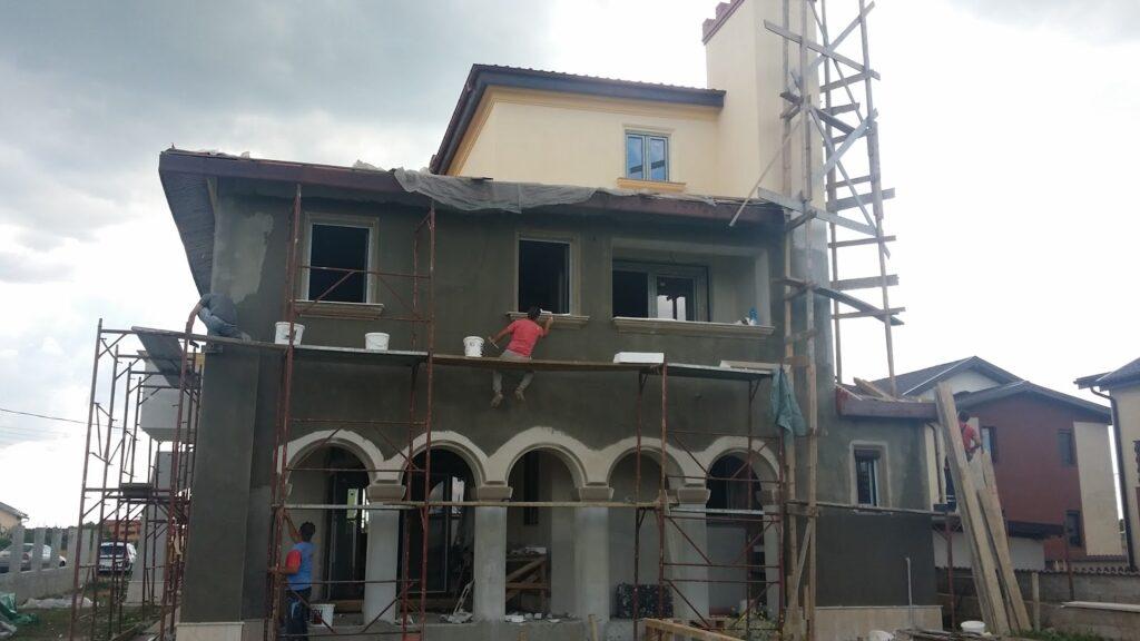 Manopera Fatade Case,Manopera Fatada Casa, montaj profile decorative