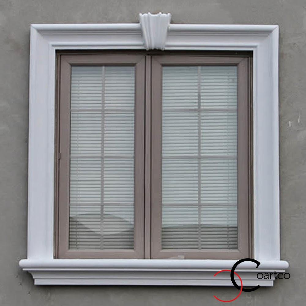 ancadramente simple pentru geamuri la exterior, baghete decorativ