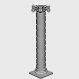 Fatade de Case Moderne cu coloane decorative din pret
