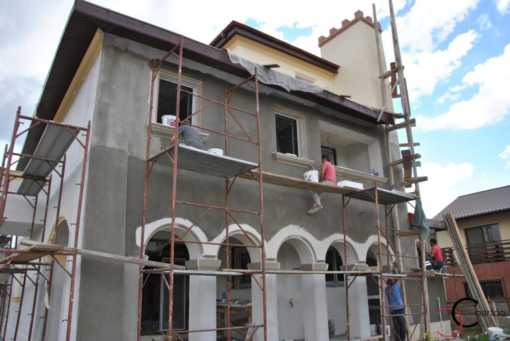Fatada Casa, Manopera , Montaj, polistiren