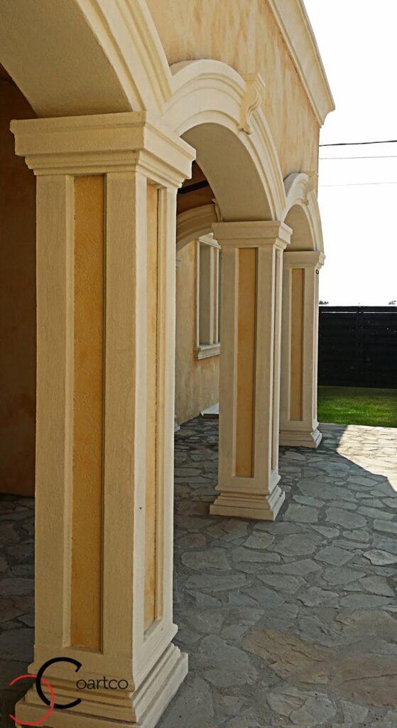 fatade case, fatada casa, arcada casa, arcade decorative, casa cu arcada