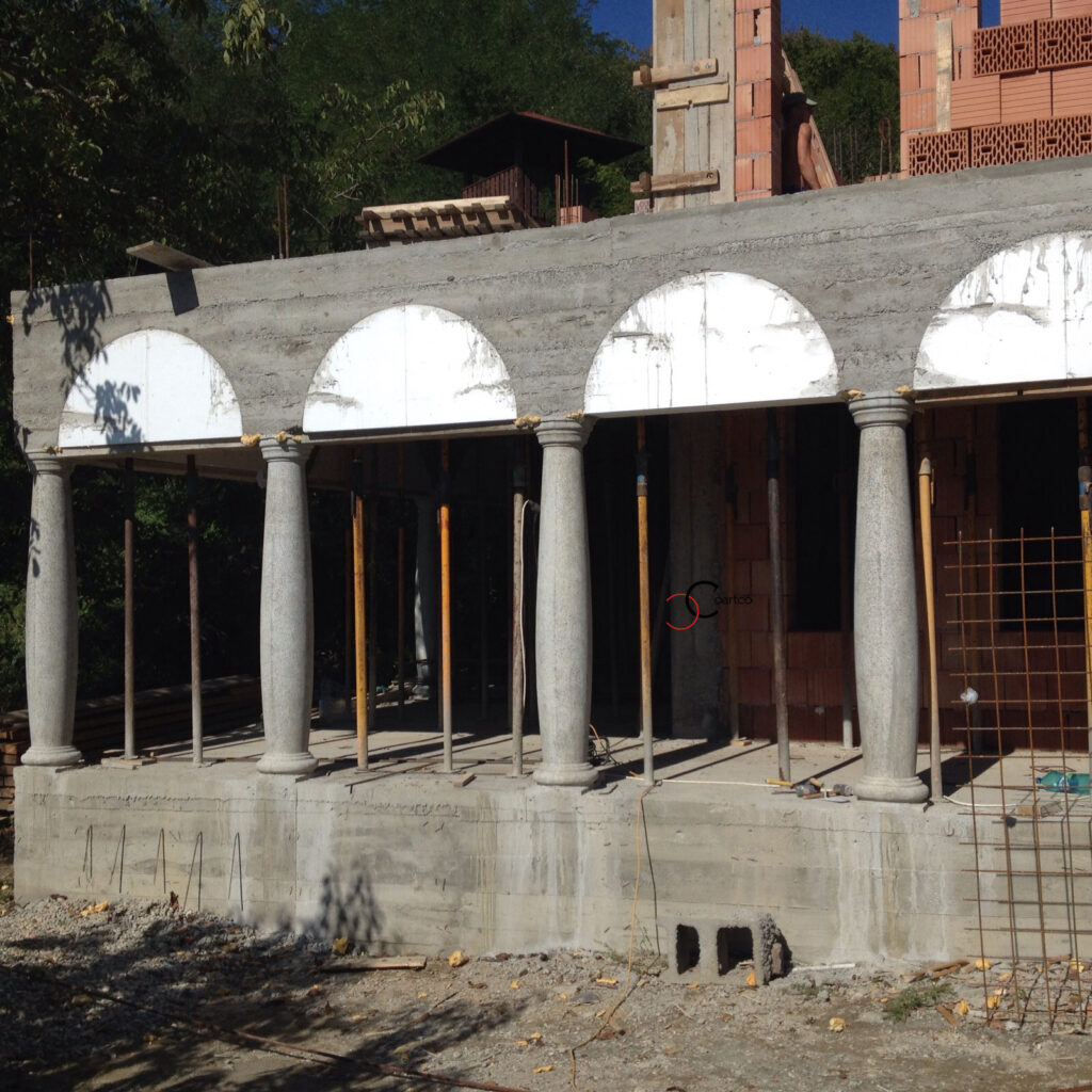 arcada mulaje polistiren turnare beton