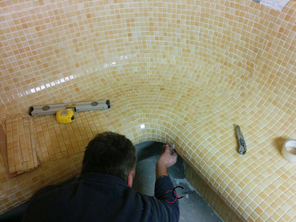 montaj mozaic banca spa hamam