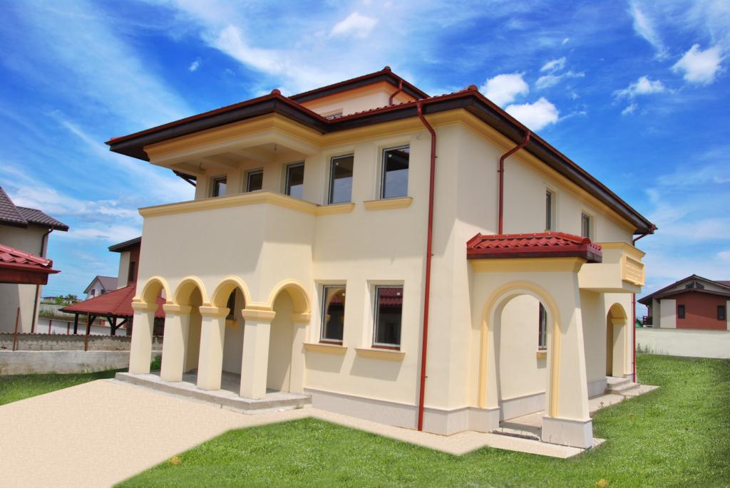 fatada casa cu profile decorative polistiren