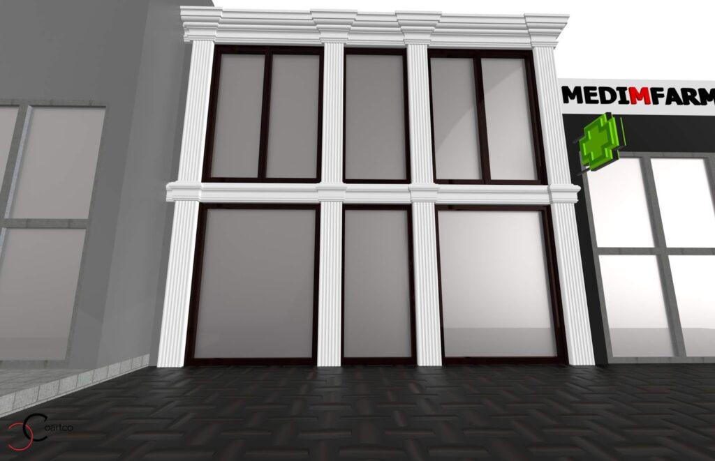 Simulare de Design Cafenea Memish cu Profile Decorative