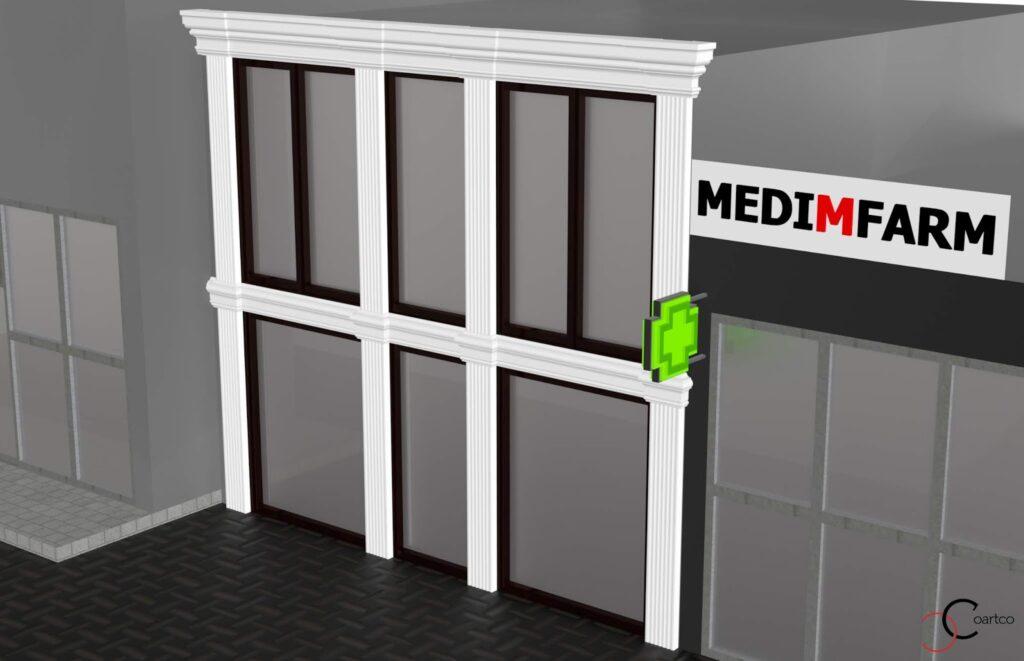 Simulare de Design Cafenea Memish cu Profile Decorative din Polistiren
