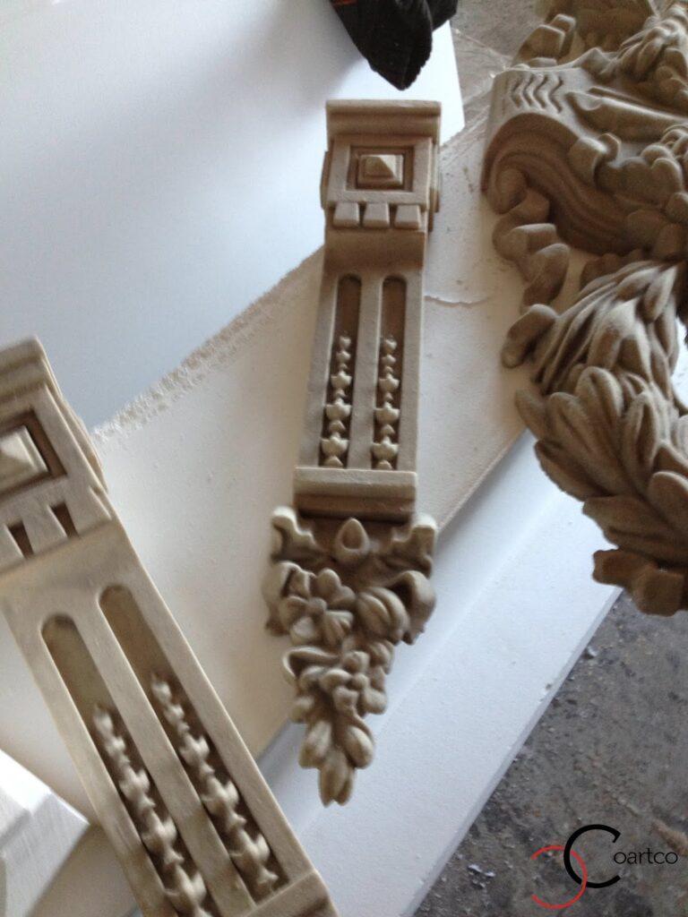 Accente Arhitecturale complexe din Polistiren pentru Fatade Case - Element Vegetal