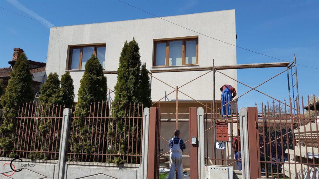 Proiect casa rezidentiala in Bucuresti inainte de montarea profilelor decorative CoArtCo