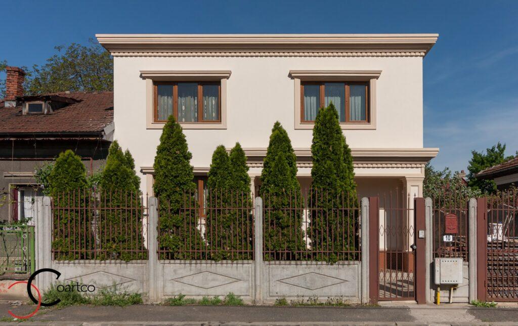 Proiect Casa Rezidentiala Bucuresti cu Profile Decorative montate pe Fatada Casei