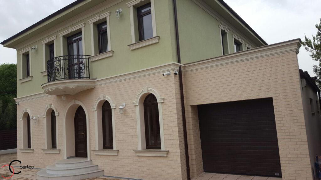 Profile din Polistiren pentru Fatada Casa cu Garaj in Pitesti, Arges