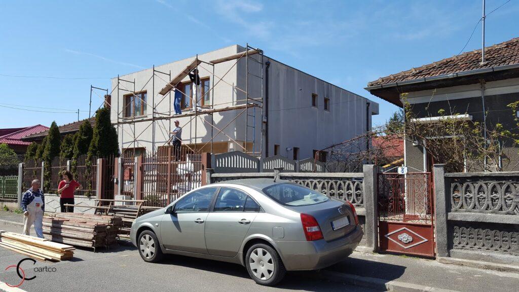 Proiect casa rezidentiala Bucuresti Inainte de montarea profilelor decorative din polistiren