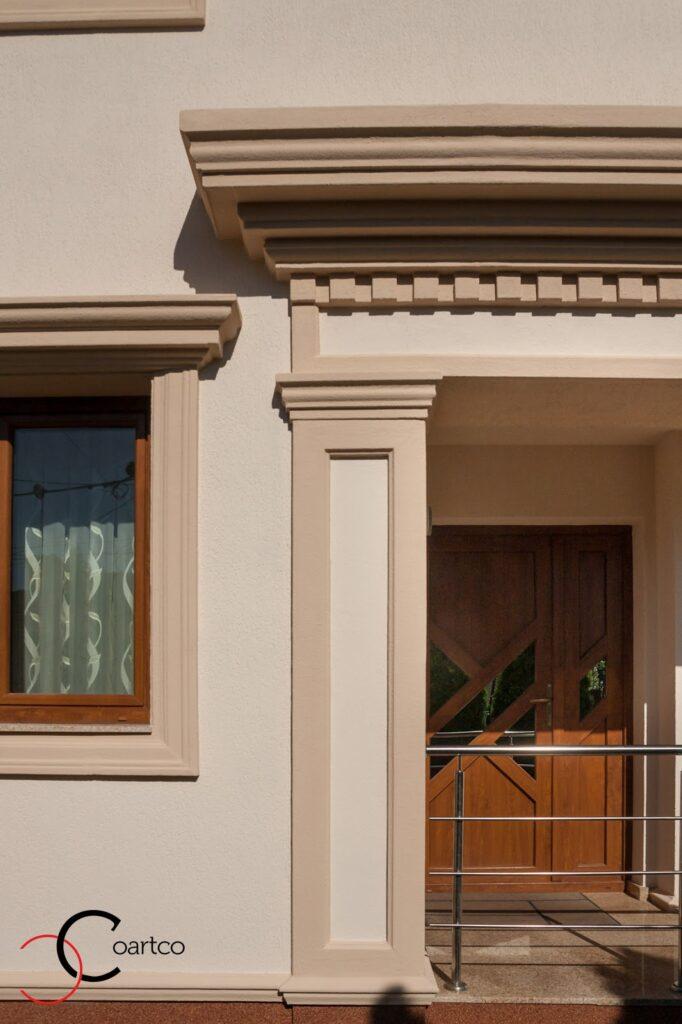 Proiect Casa Rezidentiala Bucuresti cu Profile Decorative din Polistiren Montate pe Fatada Casei
