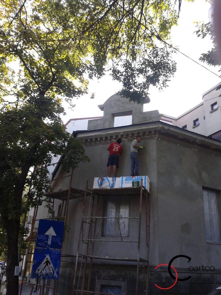 Montaj profile decorative din polistiren coartco pe fatada casei dana rogoz