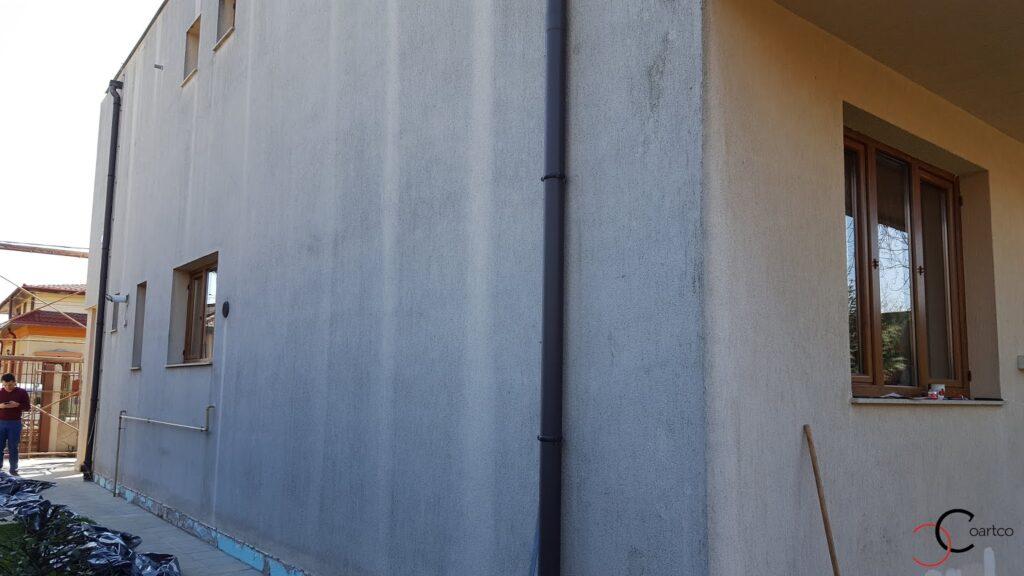 Proiect casa rezidentiala in Bucuresti inainte de montarea profilelor decorative din polistiren CoArtCo