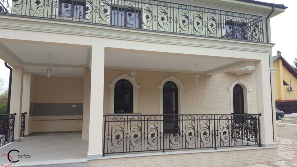 Terasa cu profile decorative tip brau din polistiren in Pitesti, Arges