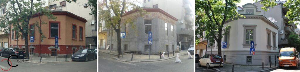 Cele trei etape ale proiectului inainte in timpul lucrarilor si dupa montarea profilelor decorative din polistiren coartco casa dana rogoz