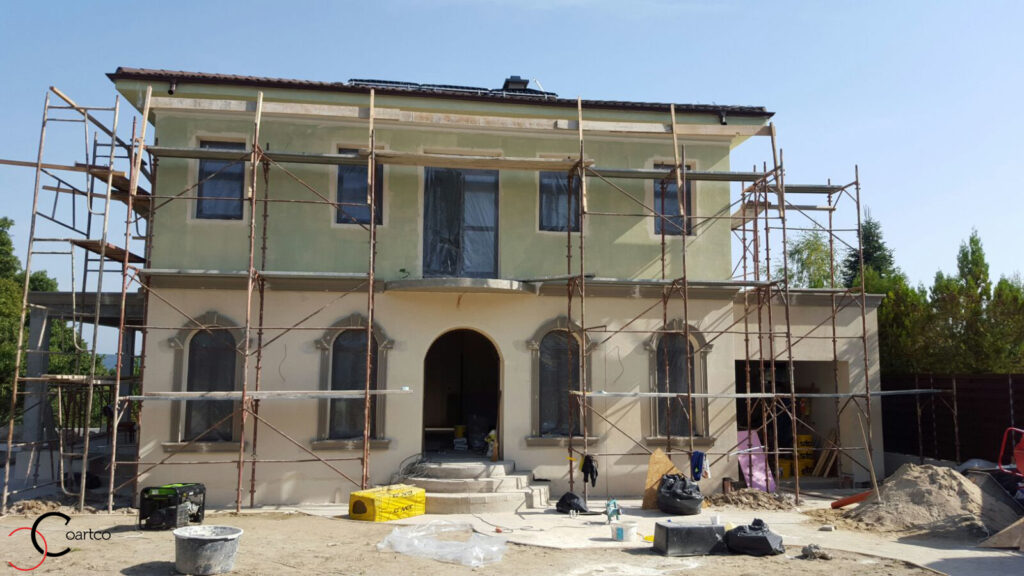 Montaj profile din polistiren pentru ferestre cu arcada in Pitesti, Arges
