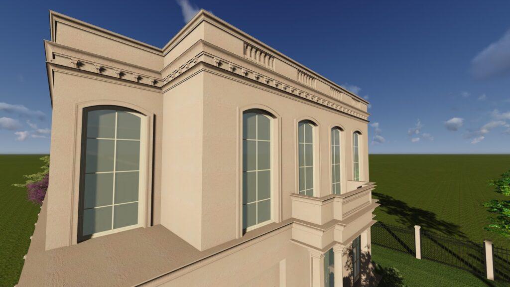 Proiect Design Fatada Casa cu Profile Decorative din Polistiren