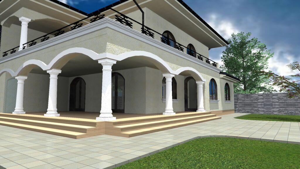 Proiect Fatada Casa cu Profile Decorative din Polistiren CoArtCo