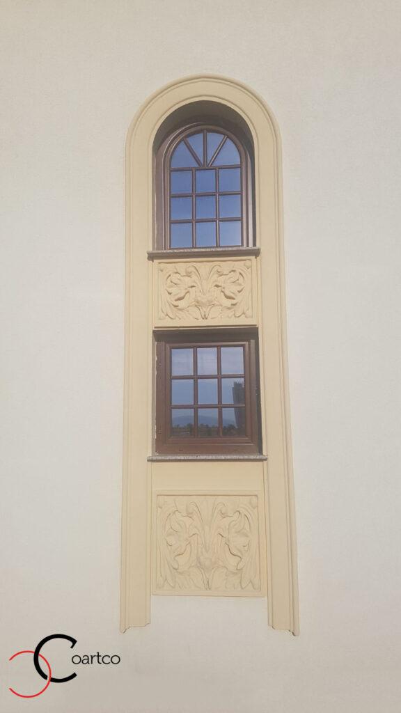 Ancadrament fereastra cu arcada si panou decorativ din polistiren CoArtCo