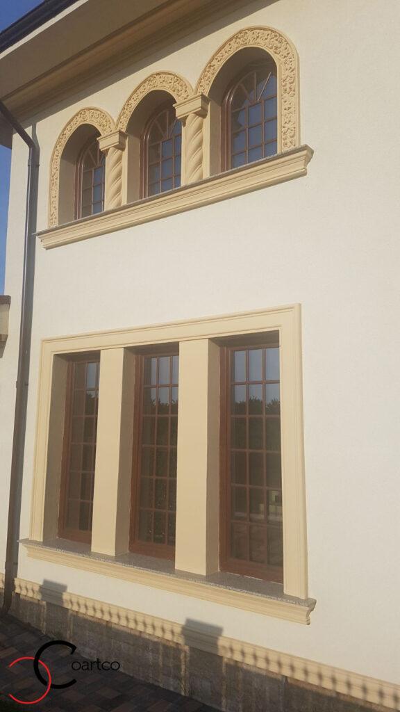 Ancadramente ferestre cu arcada si coloane spirala din polistiren CoArtCo