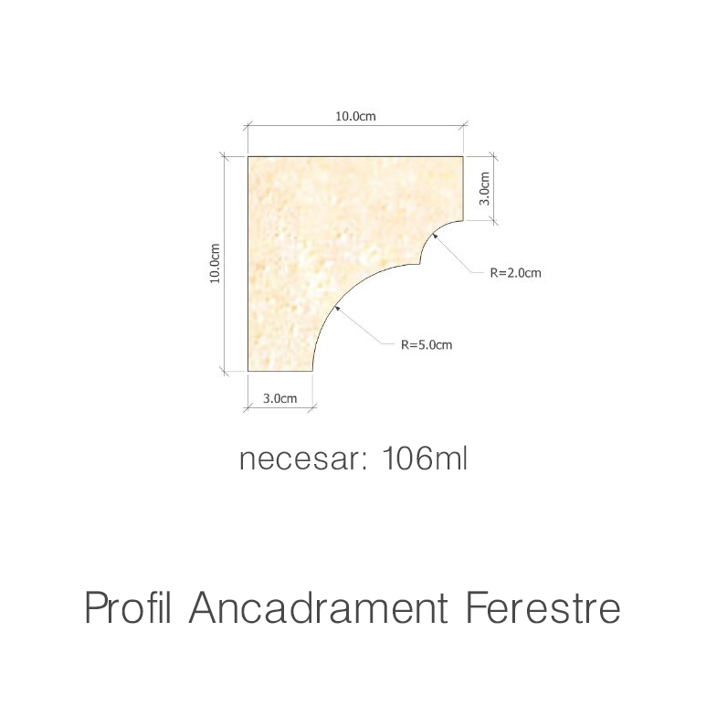 Profil Ancadrament Ferestre necesar 106ml