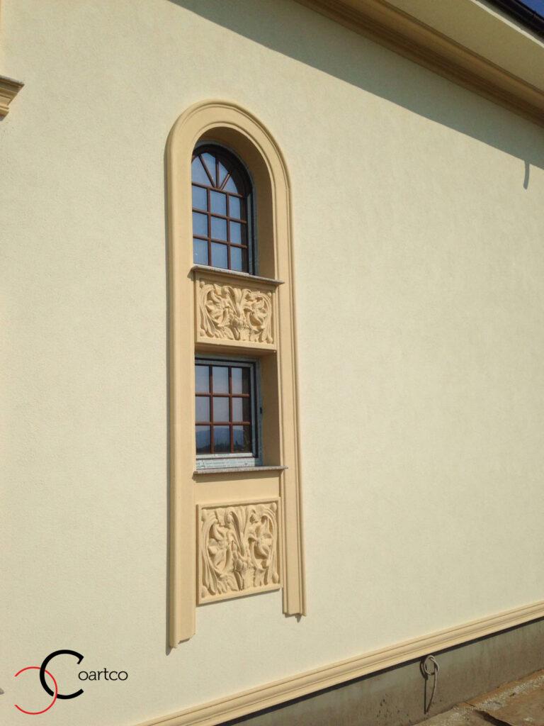 Ancadrament Geam cu Arcada si Panou Decorativ din Polistiren CoArtCo