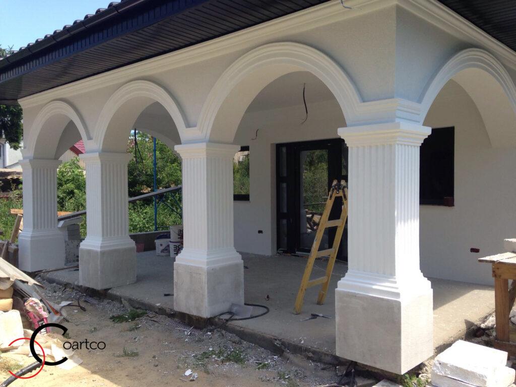 Profile decorative din polistiren CoArtCo arcade si coloane decorative din polistiren
