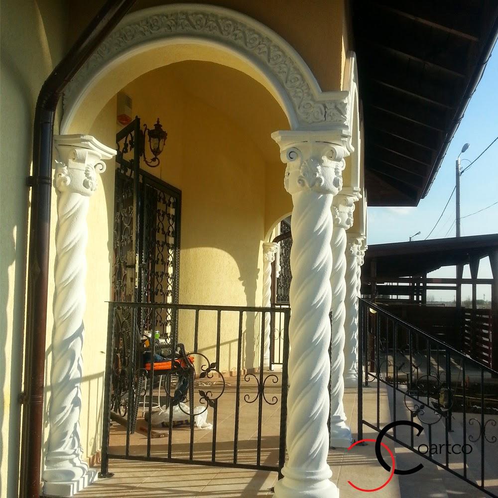 ornamente decorative din polistiren, coloane brancovenesti spiralate din polistiren, firma constructii montaj