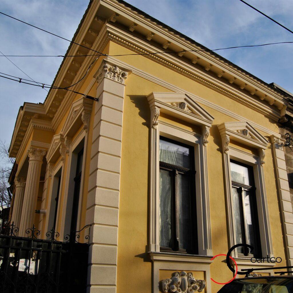profile decorative, ornamente polistiren, firma constructii manopera montaj decoratiuni fatade case