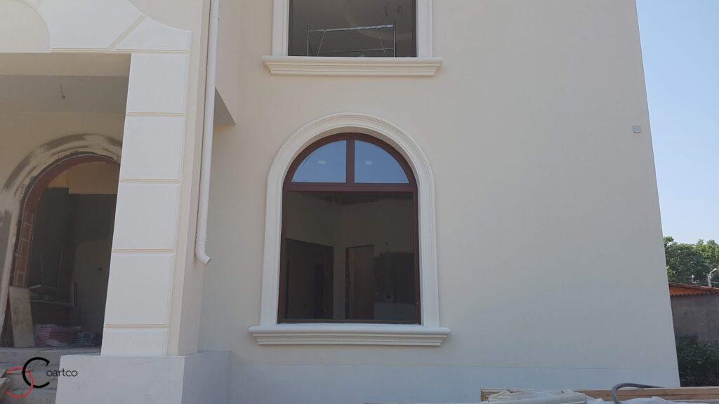 Profile decorative din polistiren CoArtCo pentru fatada casei - ancadramente pentru ferestre
