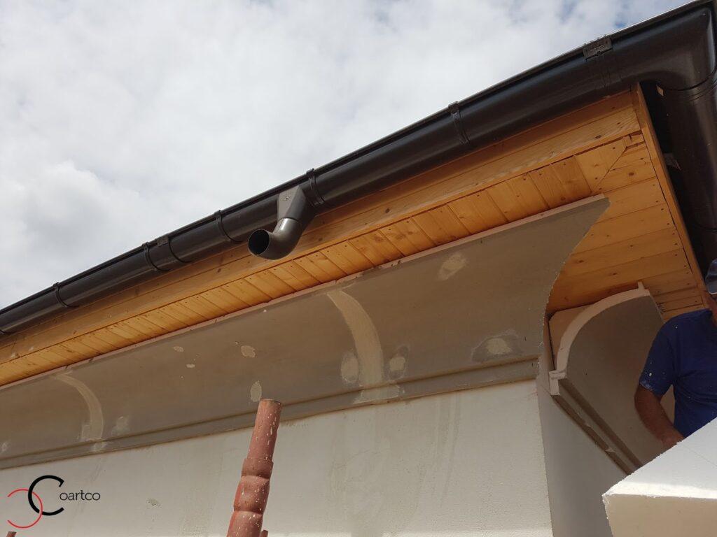 Manopera montaj cornisa din polistiren pentru exterior