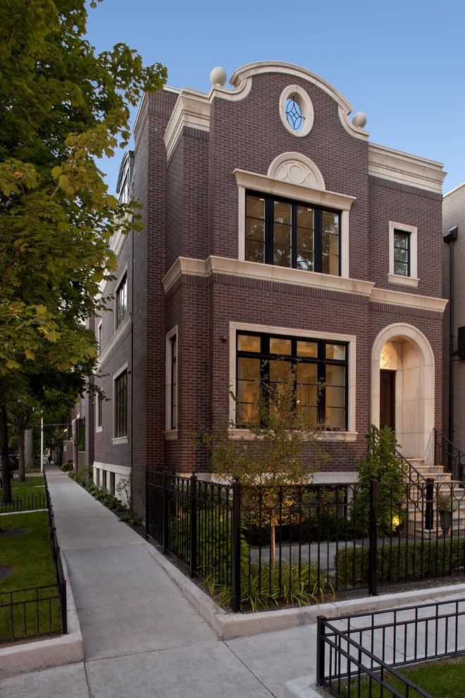 Fatada casa cu caramida aparenta si profile decorative CoArtCo