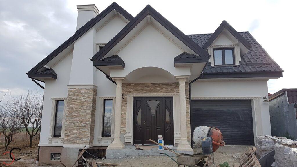 Design fatada casa cu profile din polistiren CoArtCo