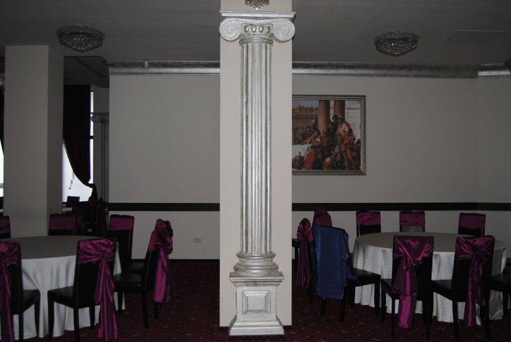 Coloane decorative din polistiren CoArtCo pentru amenajare sala de nunti