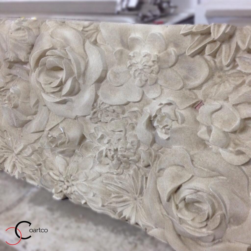Panou 3D decorativ din polistiren CoArtCo pentru salon de evenimente in Panciu