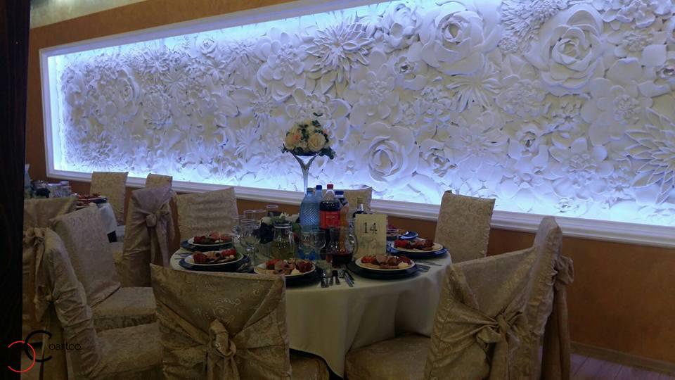 Panou decorativ 3D din polistiren CoArtco pentru sali de nunti si saloane de evenimente