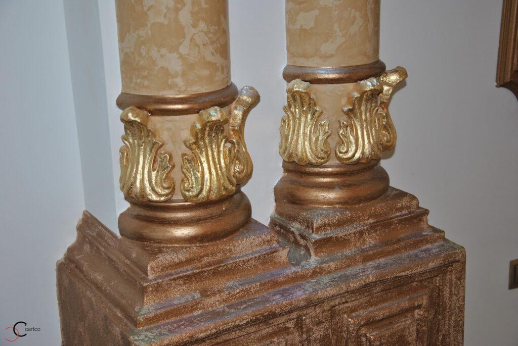 Baza coloane decorative din polistiren CoArtCo pentru interior sali de nunta